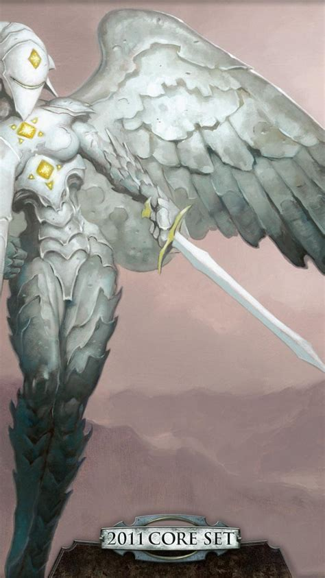 magic  gathering platinum angel angels fantasy art