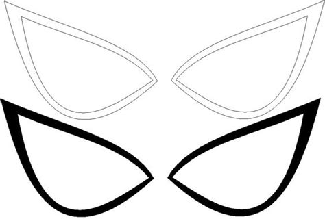 printable spider mask template spiderman eyes template ultimate spider man eyes lines