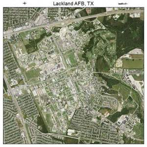 aerial photography map of lackland afb tx