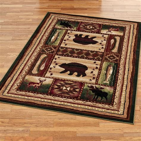 rustic rugs wilderness rustic area rugs
