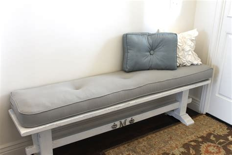 grey bench cushion amy s casablanca grey fabric