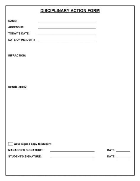 write up forms for employees templates free 46 effective employee write up forms disciplinary