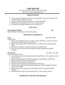 Corporate Executive Chef Sle Resume by Resume Exles For Undergraduate College Students Sles Entry Level Freshman Student Sle