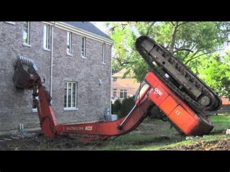 excavator accident  video clips  excavator bloopers caught  tape