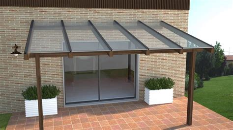 pendenza tettoia copertura pergolato in legno con policarbonato