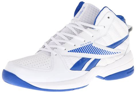 reeboks basketball shoes reebok rise run basketball shoe in white for white