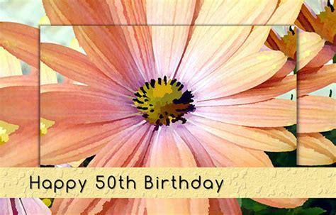 50th Birthday Gerbera Daisy Flower. Free Milestones eCards