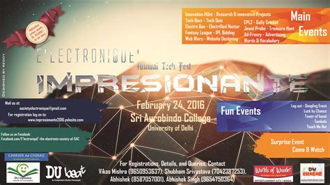 themes for college techfest impresionante 2016 technical festival sri aurobindo