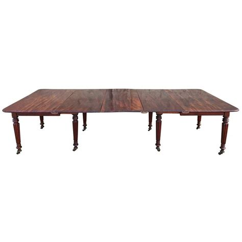 regency mahogany antique dining table for sale at 1stdibs