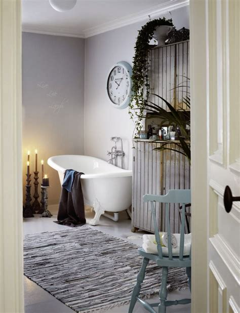 Chic Bathroom Ideas | shabby chic bathroom design with a hearth and a sideboard