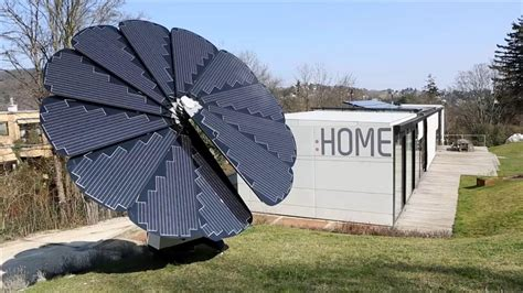 Solar Panel Flowers Charge By Day And Light Up At by This Flower Shaped Solar Panel Array Follows The Sun Nbc