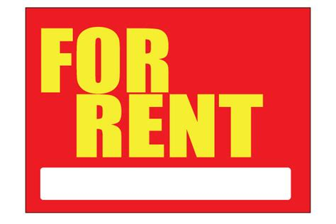 printable house for rent sign make free for rent signs clipart best