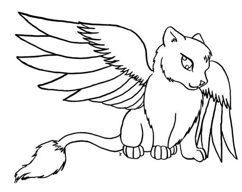 winged cat coloring page 10 images of winged cat coloring pages winged warrior