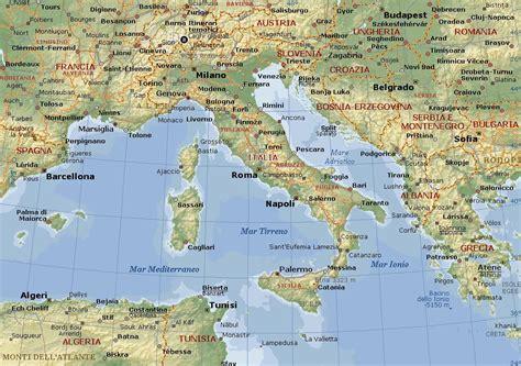 di talia italia carta geografica mappa della italia