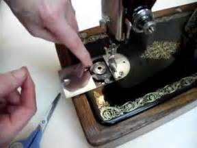 threading bobbin singer sewing machine how to thread a vintage bobbin sewing machine