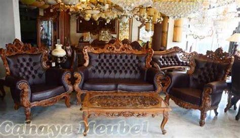 Kursi Kayu Potong Rambut set kursi tamu sofa ukir kayu jati jepara cahaya mebel