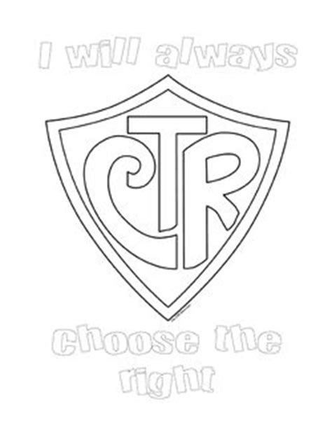 lds coloring pages ctr shield ctr shield coloring sheet pdf primary pinterest