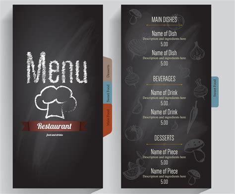 restaurant menu templates for adobe illustrator grey background restaurant menu free vector in adobe