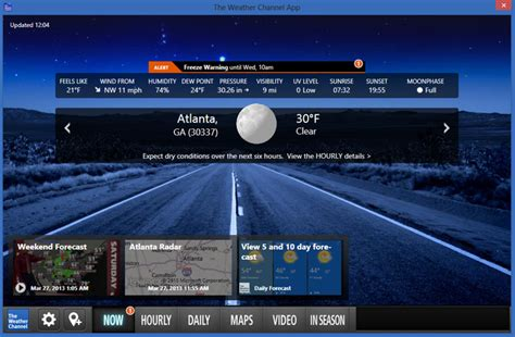 Desk Top Weather by The Weather Channel Desktop 7 05 03