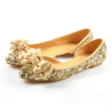 Gold Flat Shoes For Wedding by Popular Gold Glitter Flats Buy Cheap Gold Glitter Flats