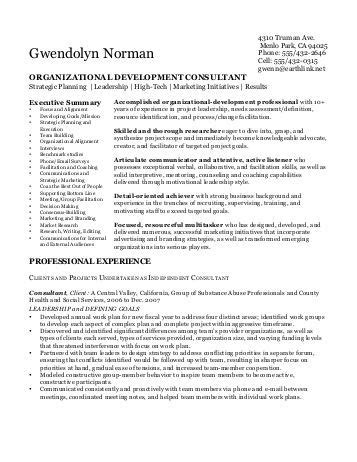 Development Consultant Sle Resume by Resume Organizational Development Consultant 28 Images