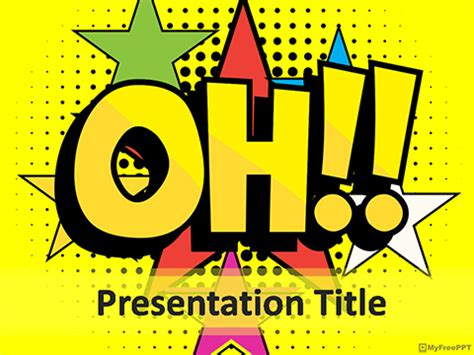 comic powerpoint template free boom powerpoint templates myfreeppt