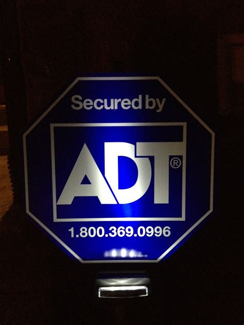 solar sign lights outdoor adt yard sign with solar light zions security alarms