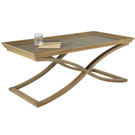 avignon weathered oak coffee table oka