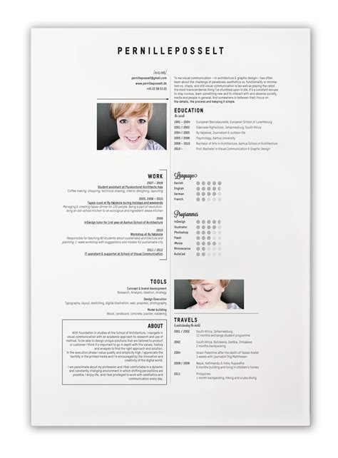 cv design inspiration 5 ideas for creative resumes and cvs
