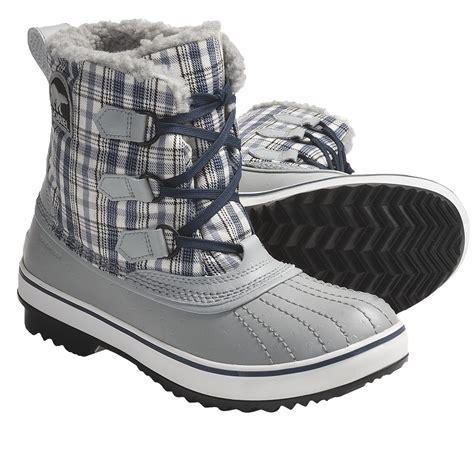 sorel tivoli tweed snow boots waterproof for