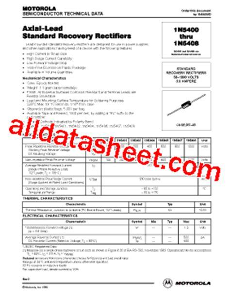 1n5408 diode datasheet 1n5408 datasheet pdf motorola inc