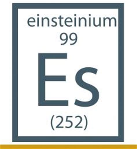 Es Periodic Table by Es Element Gallery
