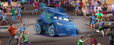 disneyland reveals cars land street entertainment to include red the fire truck and dj dance