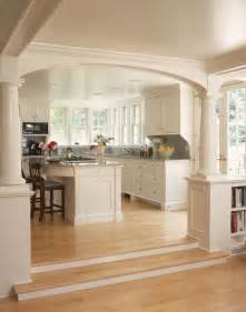 open kitchen ideas open kitchen into living room concepts with pillars to separate areas island is rounded for