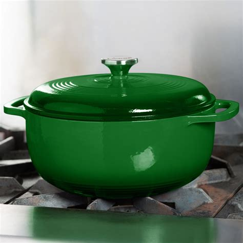 lodge color enamel 6 quart oven lodge ec6d53 6 qt emerald green color enamel oven