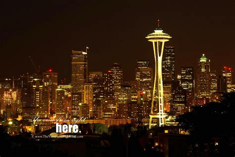 Scratching Continuesvalentines Evening Wa by Space Needle The View From Right Here