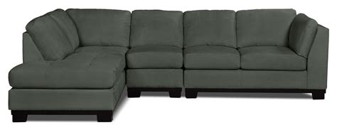 grey microsuede sectional oakdale 3 piece microsuede left facing sectional grey