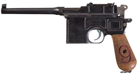 libro the broomhandle mauser weapon mauser 1896 quot red nine quot military broomhandle pistol