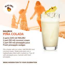 the classic malibu pina colada cocktails and recipes