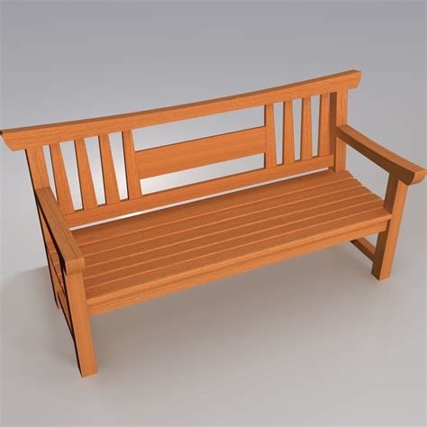 japanese benches wooden japanese garden bench 3d model