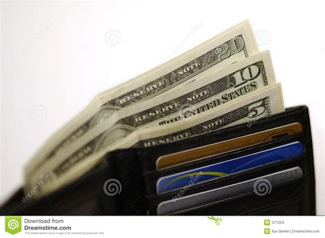 Gift Card With Money - wallet with money and cards stock images image 371224
