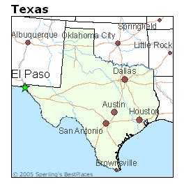 where is el paso texas located on a map best places to live in el paso texas