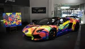 Lamborghini Paintings Lamborghini Aventador Car By Lamborghini Miami