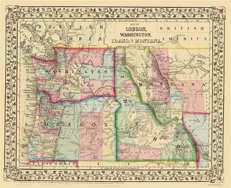 map of oregon and idaho state maps oregon washington idaho montana or wa