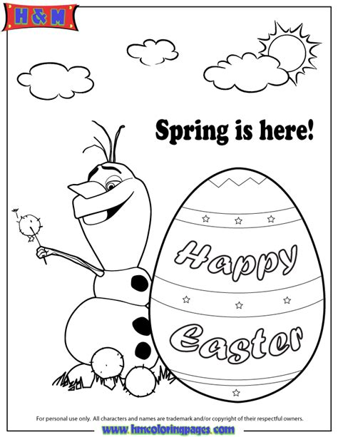 frozen spring coloring pages free coloring pages of olaf
