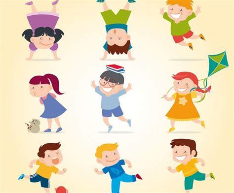 imagenes niños escolares jugando vectores de ni 241 os jugando jumabu