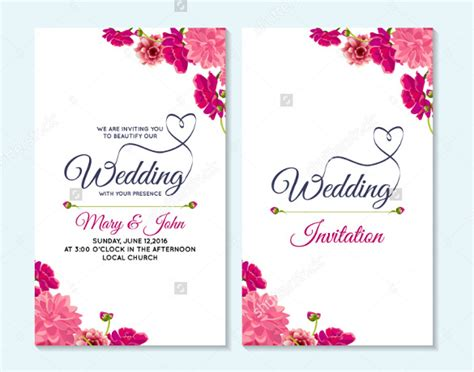 postcard wedding invitations template free wedding card template 91 free printable word pdf psd
