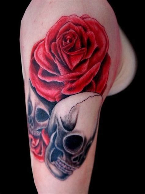 skull and rose tattoo sleeve 25 best ideas about sleeve tattoos on