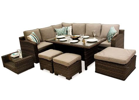 brown rattan sofa set chelsea dining corner sofa rattan furniture set brown
