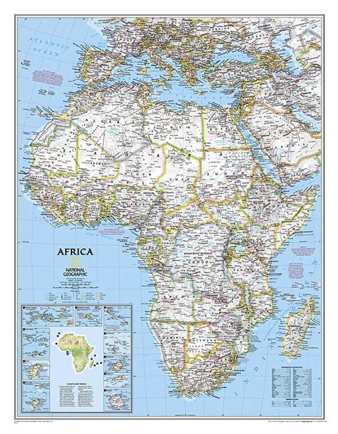spain and portugal classic laminated national geographic reference map books africa classic laminated by national geographic maps
